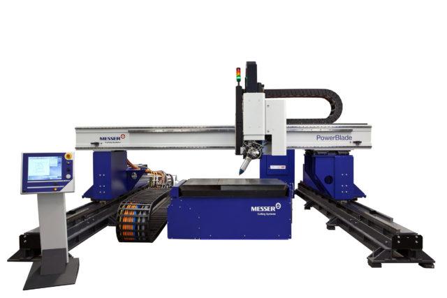 Laserskärmaskin fiberlaser powerblade