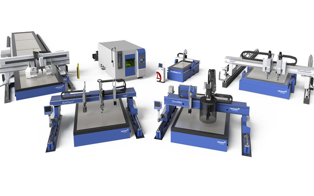 Messer plasmaskärmaskiner och laserskärmaskiner