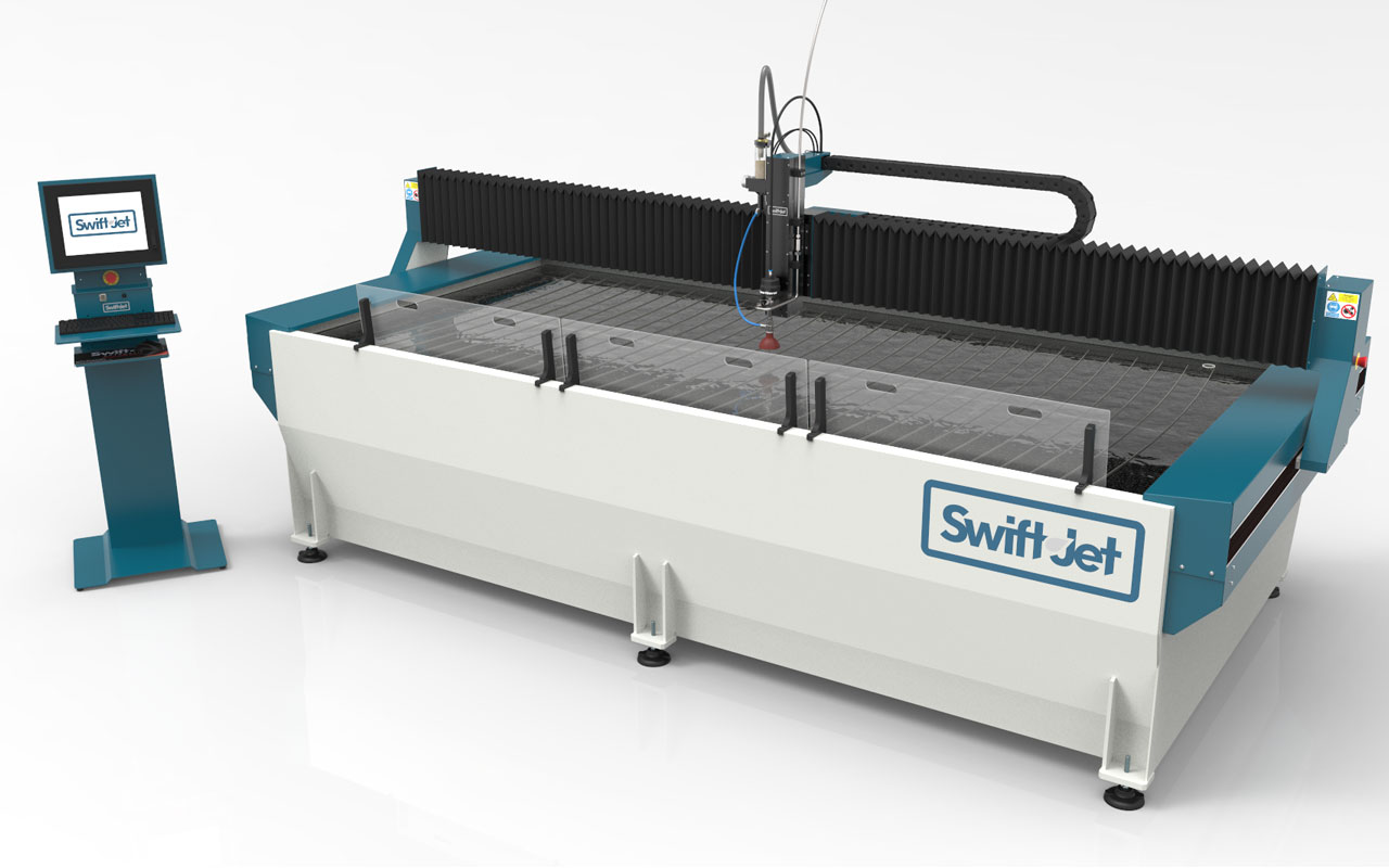 swift-jet vattenskärmaskin
