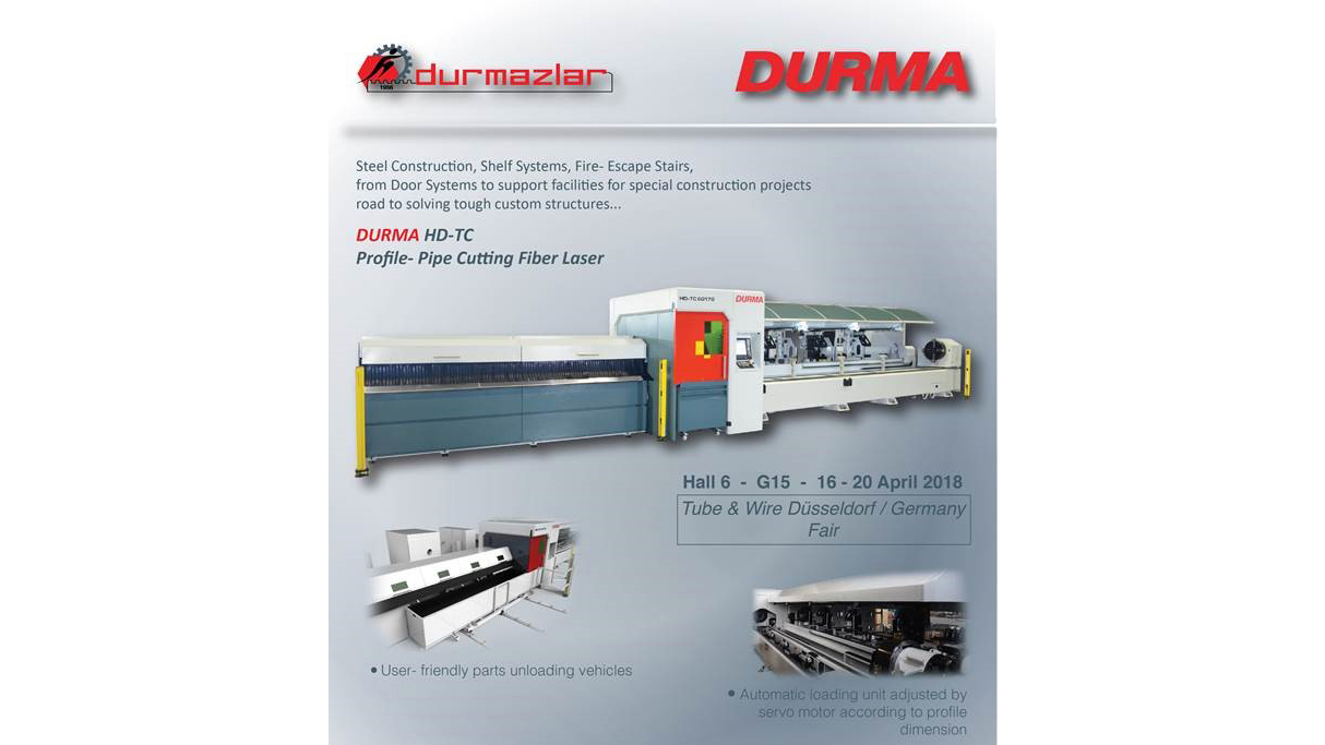 Visit Durma at TUBE DÜSSELDORF 2018