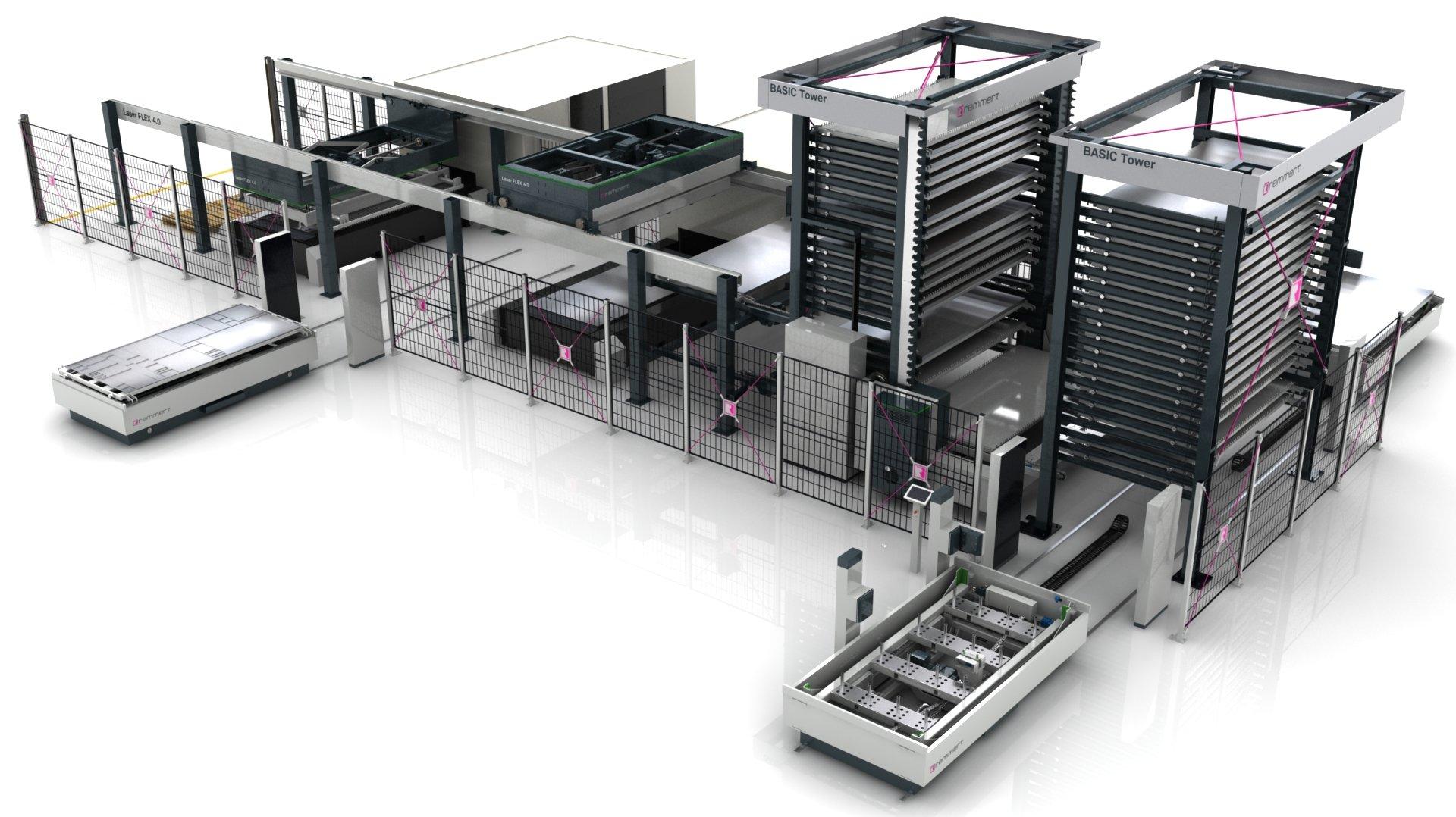 Automationssystem för laserskärmaskin